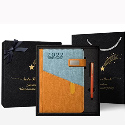 2022 Planner- Planner 2022 with Flexible Cover,8.7″ x 5.9″,January- December 2022, 2022 Planner Weekly and Monthly with Twin- Wire Binding (Color : Orange red)