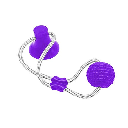 YANEP SuckerInteractivo portátilTPR Ball Toy Pet Molar BiteToy Seguridad de Goma Masticar Ball CleanToy 3Pc