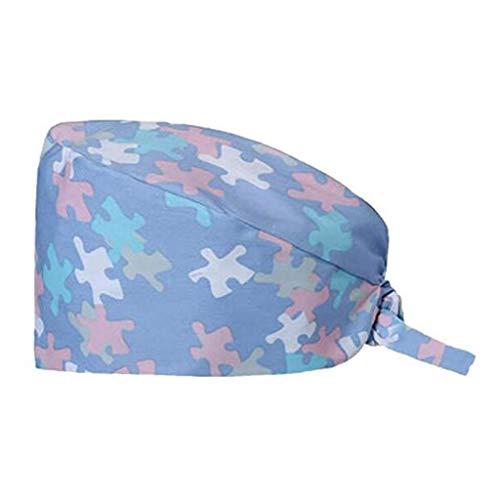 Verstellbarer chirurgischer Hut Baumwolldruck Doctor Nurses Arbeitshut für Frauen/Männer