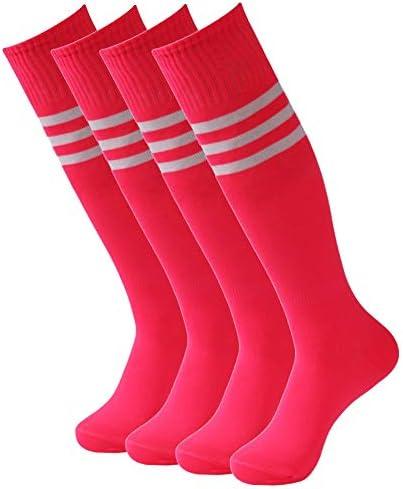 Getspor Pink Tube Socks Womens Girls Knee High Costume Sports Soccer Football Softball Team product image