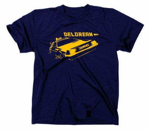 Zurück in die Zukunft Kult T-Shirt Delorean Motiv, Navy, M