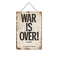 あなたがそれを望むなら戦争は終わった木製のリストプラーク木の看板ぶら下げ木製絵画パーソナライズされた広告ヴィンテージウォールサイン装飾ポスターアートサイン