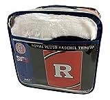 Northwest Rutgers University Scarlet Kights 60x80 inch Twin Size Royal Plush Throw Blanket