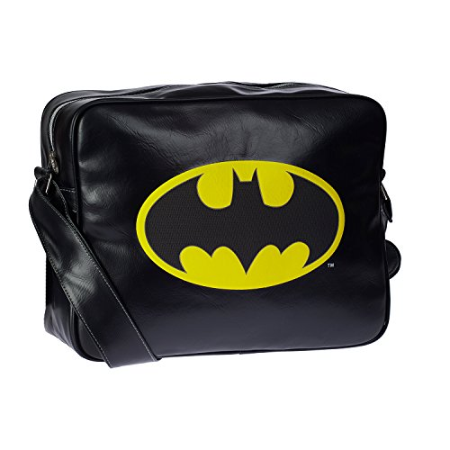 Karactermania Batman Batsignal Sac bandoulière, 35 cm, Noir (Negro)