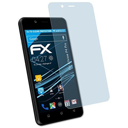 atFolix Schutzfolie kompatibel mit Allview P4 Pro Folie, ultraklare FX Bildschirmschutzfolie (3X)