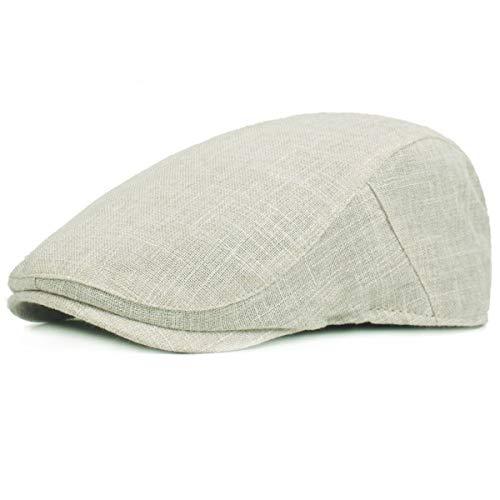 KeepSa Gorra plana de cáñamo puro para hombre Gatsby Ivy Irish Hat Newsboy Boina Caps