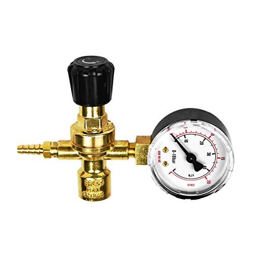 Riduttore gas Argon/CO2 mini con manometro per bombole mono-uso e ricaricabili - connessione bombola M10x1
