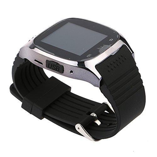 HuntGold Reloj de Pulsera Bluetooth Universal para iOS y Android Smartphone M26 - Negro