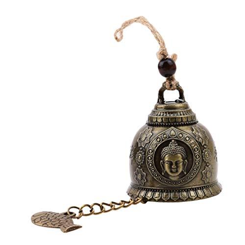 #N/A Rinclhu Vintage Glocke Windspiel Geschnitzte Auto Dekor hängende Verzierung chinesische Windspiel