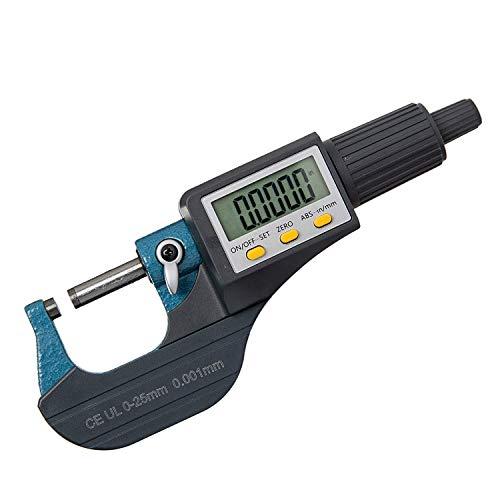ZHLAMPSZJ Herramientas micrómetro Digital Micrómetro Caliper 0-1 / Gauge 0-25mm 0,00004 / 0,001 mm Espesor Herramientas de Medición Pulgadas/métrico Caliper,Micrometer