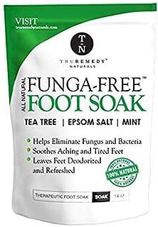 Tea Tree Oil Foot Soak with MSM, Epsom Salt & Mint, Feet Soak Helps Toenail System, Athletes Foot & Stubborn Foot Odor - Foot Bath Salt Softens Calluses & Soothes Sore Tired Feet, 14 Ounce