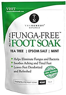 Tea Tree Oil Foot Soak With MSM, Epsom Salt & Mint, Feet Soak Helps Toenail System, Athletes Foot & Stubborn Foot Odor - Foot Bath Salt Softens Calluses & Soothes Sore Tired Feet, 14 Ounce