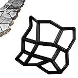 Zosip jardinería pavimento encofrado celosía de hormigón diy encofrado deslizante jardín patio pavimento de suelo cemento del molde del molde (color : black, size : 43x42. 5x4cm)