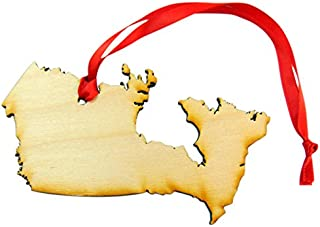 Westman Works Canada Christmas Ornament Wooden Country Map Boxed Handmade in The USA