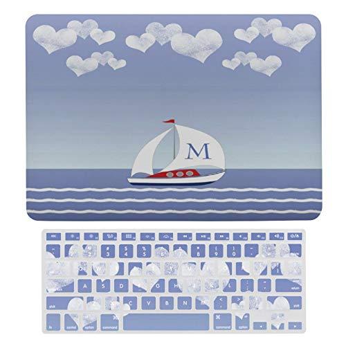 Funda protectora para MacBook New Pro 13 Touch A1706, A1989, A2159, carcasa rígida y teclado para Apple Mac New Pro 13 Touch, diseño de barco de vela