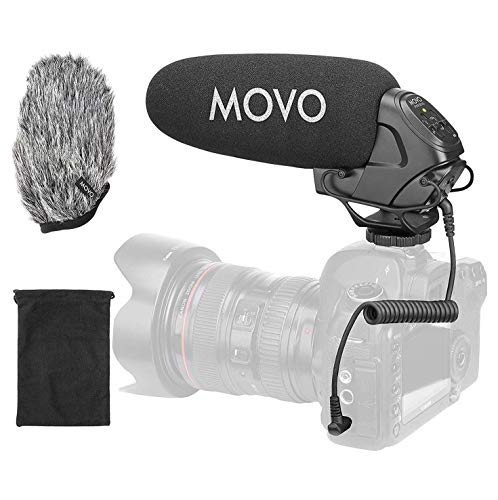Movo VXR3031 Shotgun Microphone - Supercardioid On-Camera Shotgun Mic with 2-Step High-Pass Filter,...
