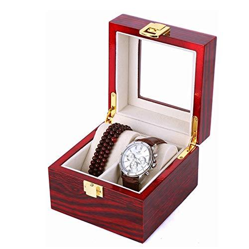 Whss watch box Caja De Reloj De Madera 2 Pulsera De Rejilla Joyas Cadena Cuenta De Almacenamiento Cadena Cubierta De Vidrio Exhibición De Escaparates Colección De Joyas Y Regalos Decorativos for Hombr
