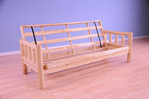 New Jerry Sales Lodge Frame only Choose Natural Clear or Rustic Finish Full Size Sofa to Bed (Natural Finish)