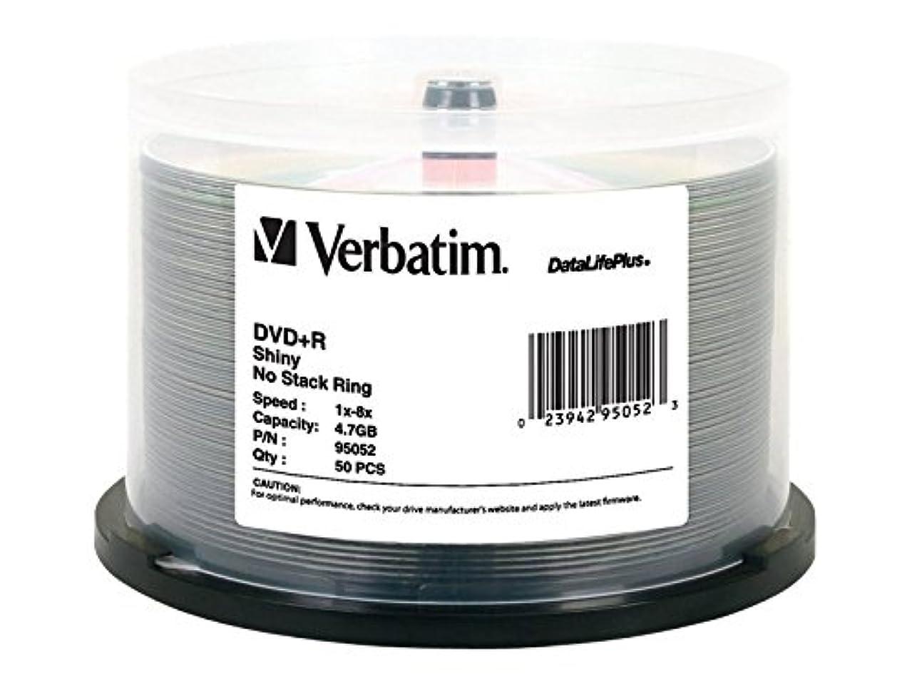 Verbatim DVD+R 4.7GB 8X DataLifePlus Shiny Silver Silk Screen Printable - 50pk Spindle