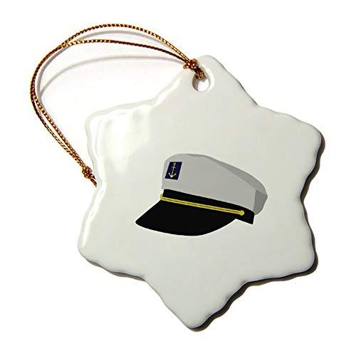 Weihnachtsschmuck, Weihnachtsbaumschmuck, Kapitänsmütze auf beiden Seiten, aus Keramik, zum Basteln