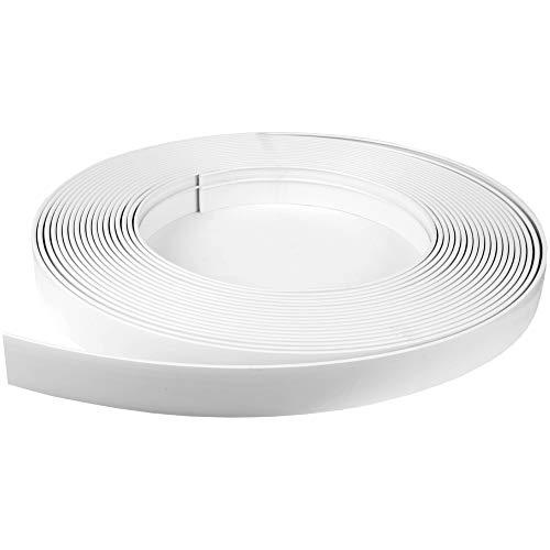 Bestlivings Blende für Gardinenschiene 400cm in Farbe Weiß, Kunststoffblende für Vorhangschiene mit Innenlauf, zum aufschieben auf Innenlaufschienen