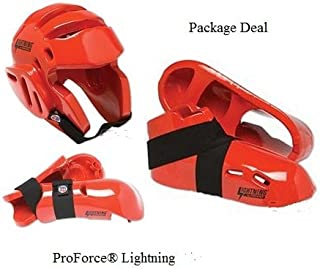 Lightning Red Karate Sparring Gear Package Deal - Child Small