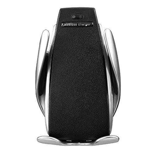 Pilink Cargador de coche inalámbrico, soporte de sujeción automática para coche, rotación de 360 grados, soporte para teléfono móvil