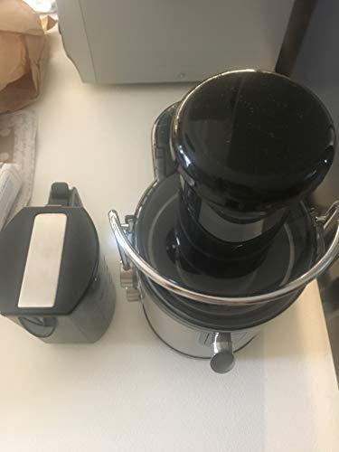 Aigostar MyFrappe Black 30IMX - Centrifuga ed Estrattore di Succo e verdura. Potenza 850W a bassa rumorosità. Semiprofessionale 1.25L. Acciaio Inox. BPA Assente. Design esclusivo