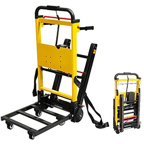 XH-Tool Carro eléctrico para Subir escaleras Plegable Capacidad de 200 kg - Tipo de Oruga, Interruptor de manija - Batería de Litio extraíble de 20V - Motor Potente de 120W