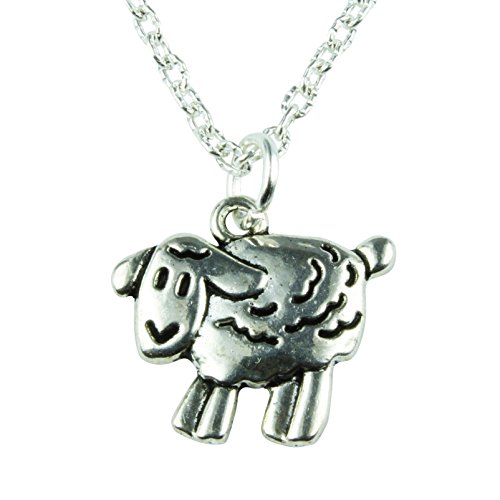 The Funky Barcode Silver Sheep Necklace Gift Box Available
