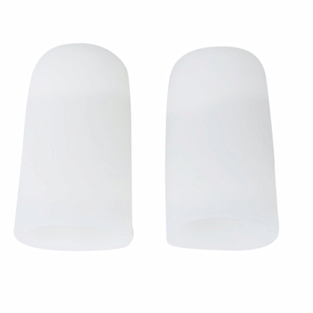 代わって慣習スキップAMAA 足指 保護キャップ つま先 プロテクター 足先のつめ 保護キャップ シリコン S M Lサイズ 1ペア (M)