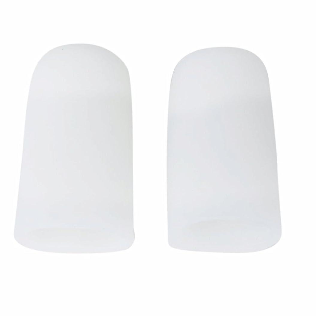 ネクタイ脇に以前はAMAA 足指 保護キャップ つま先 プロテクター 足先のつめ 保護キャップ シリコン S M Lサイズ 1ペア (M)