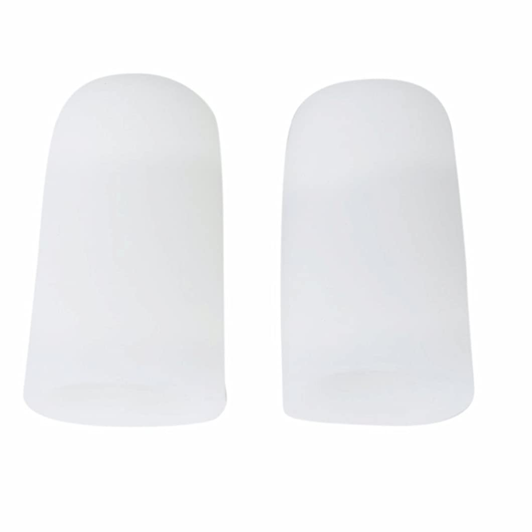 最小熟練したピクニックをするAMAA 足指 保護キャップ つま先 プロテクター 足先のつめ 保護キャップ シリコン S M Lサイズ 1ペア (M)