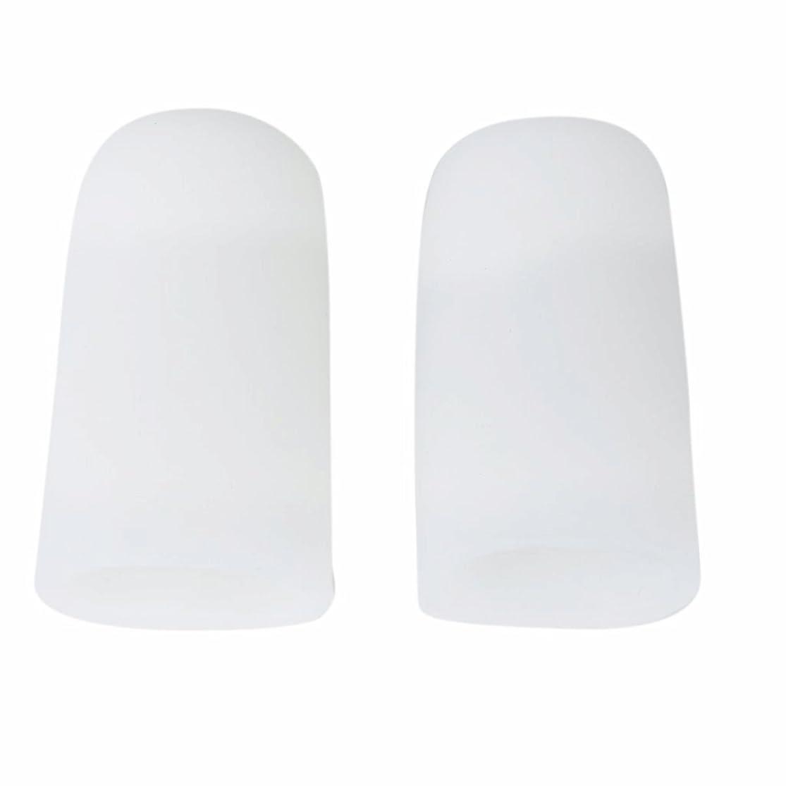複製する喜び帳面AMAA 足指 保護キャップ つま先 プロテクター 足先のつめ 保護キャップ シリコン S M Lサイズ 1ペア (M)