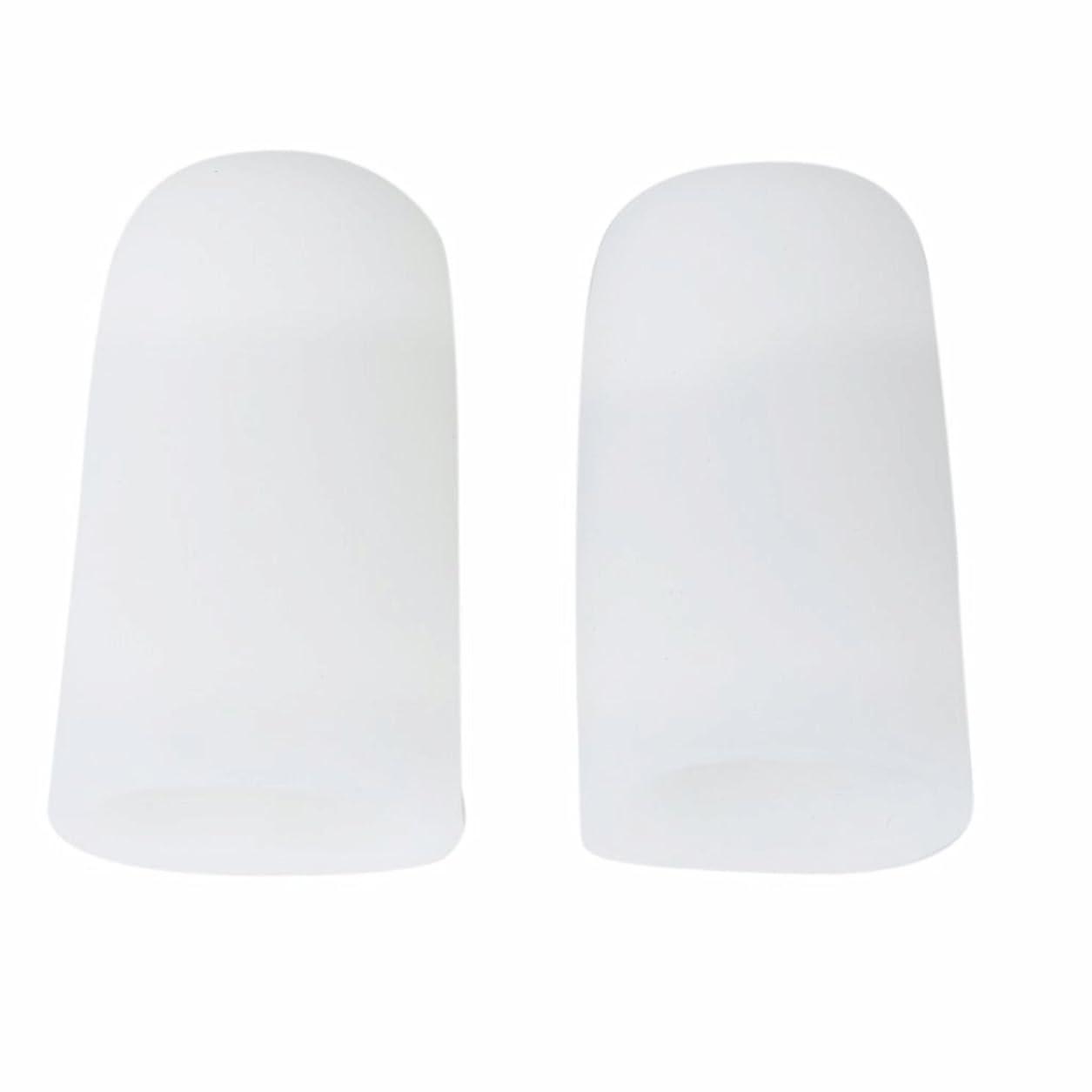 そこから鈍い動揺させるAMAA 足指 保護キャップ つま先 プロテクター 足先のつめ 保護キャップ シリコン S M Lサイズ 1ペア (M)