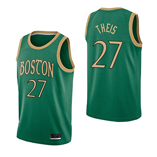Daniel Theis Boston Celtics Grün City Edition Swingman Trikot 2019/20 für Herren & Kinder (Grün, Kinder M)