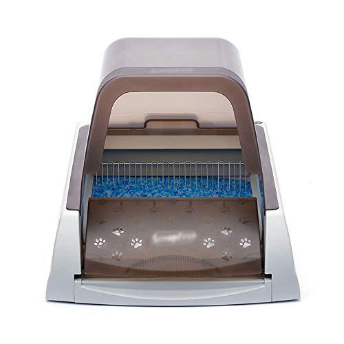 CWY Pet Kasserolle Automatische Reinigung Intelligente Mülltonne Sicher Geschlossen Katzentoilette Katzentoilette, Taupe, 47 * 65 * 42 cm