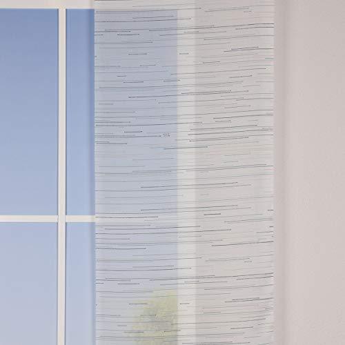 Mooi leven. FINJA, Scherli, gordijn, panelen, per meter, strepen, kleur wit/blauw/petrol, breedte 60 cm