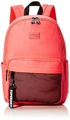 Superdry Damen Mesh Pocket Backpack Rucksack Pink (Deep Coral)