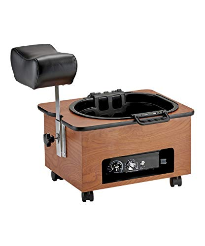 Pibbs Portable Footsie Bath Pedicure Spa for Salons and Spas, Model DG 103, Includes Rolling Base, Adjustable Footrest, and No Plumbing Ultra-Lite Footsie Tub, Includes Starter Liner Pack, PIB-DG103