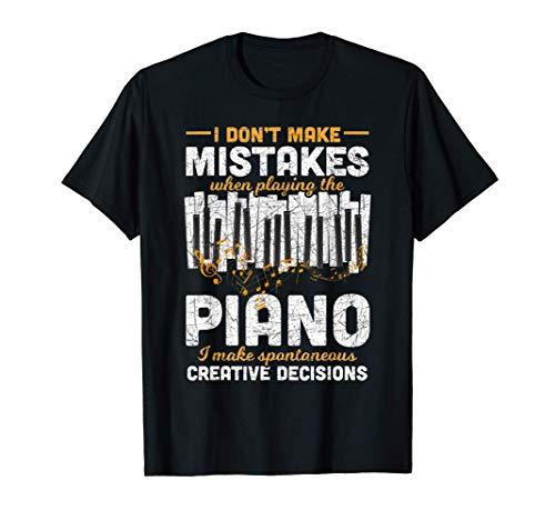Pianista Regalo Divertente Note Musicali Pianoforte Maglietta