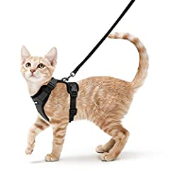 【Cat Harness with Leash, Fits Average Adult Cats】: SIZE measuring  [Neck Girth: 8.5 -11 Inches], [Chest Girth: 13.5 - 16 Inches]. Please MEASURE your cat carefully and refer to the size chart before order. (Tips: Your cat's head circumference should ...