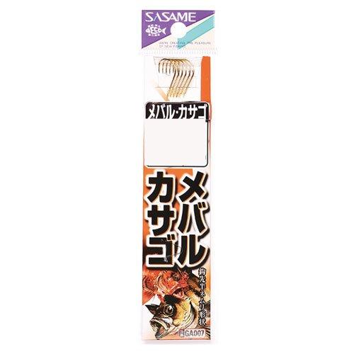 ささめ針(Sasame) GA007 メバル・カサゴ 金 糸付 7号-1