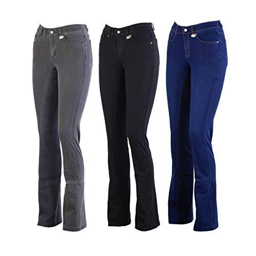 LAZURA Damen Jodhpur Reithose Vollbesatz DINA Jeans Jeansblau/Nachtblau 42