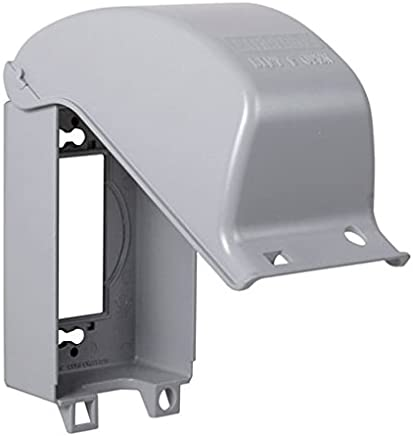 TayMac MX3200 One Gang Vertical In Use Metal Weatherproof Receptacle Cover