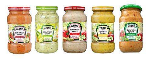 Vorteilset Heinz Sandwich Spread verschiedne Sorten Gemüse Aufstrich 1,65 Kg