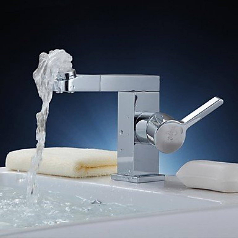 BiuTeFang Wasserhahn    Badarmatur - Waschtischarmatur     Moderne Ti-PVD drehbarer Kalt-und Switch Messing Waschbecken Wasserhahn