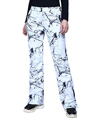 Outdoor Ventures Women's Snow Pants Waterproof Windproof Outdoor Fleece Lined Softshell Insulated Ski Pants with Boot Gaiters