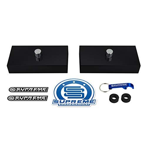Supreme Suspensions - 1' Rear Lift Blocks for Models with Single 9/16' Axle Pin Holes [T6 Billet Aluminum Kit]