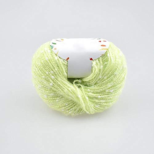 Filati acrilici in Cotone per Bambini di Alta qualità per Maglieria a Mano all'Uncinetto, Lana pettinata, Filo colorato Ricamato Eco-colorato 50g-3